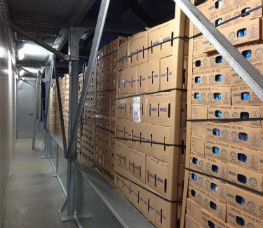 túnel enfriamiento rápido eficaz pallets